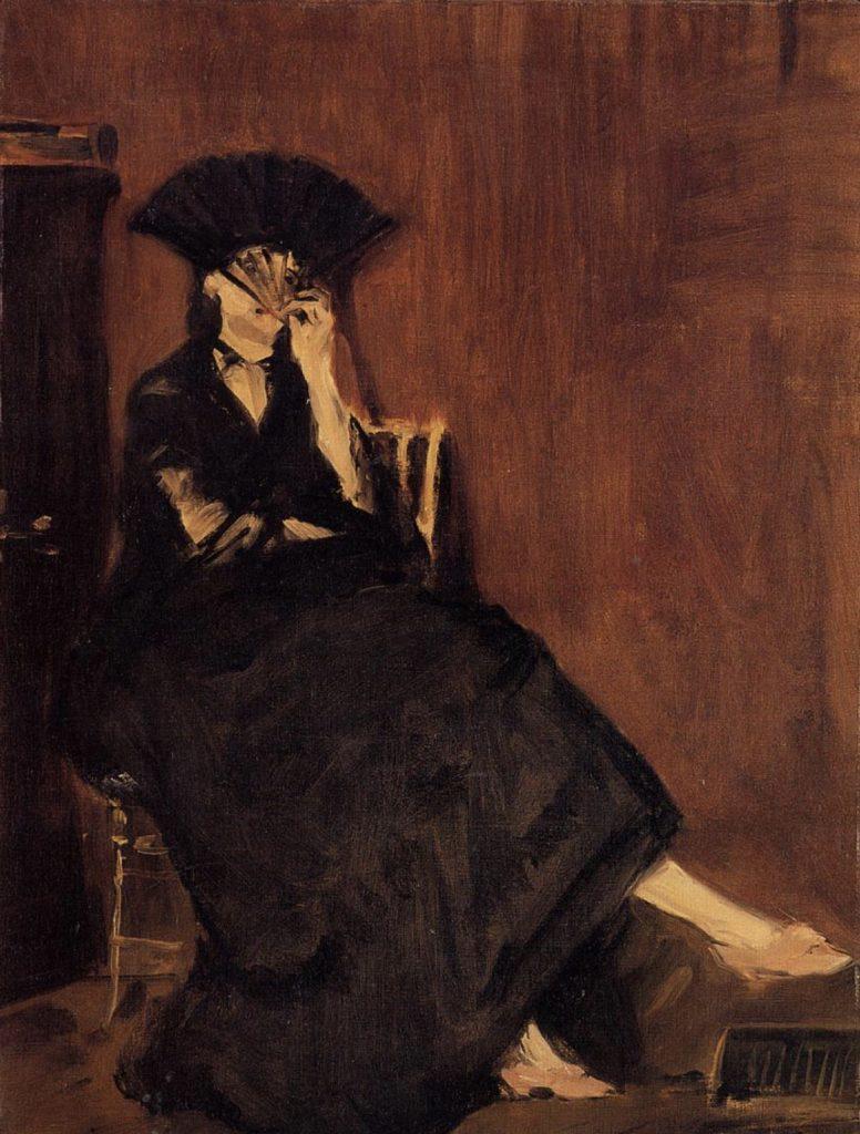 Berthe Morisot avec un éventail par Édouard Manet