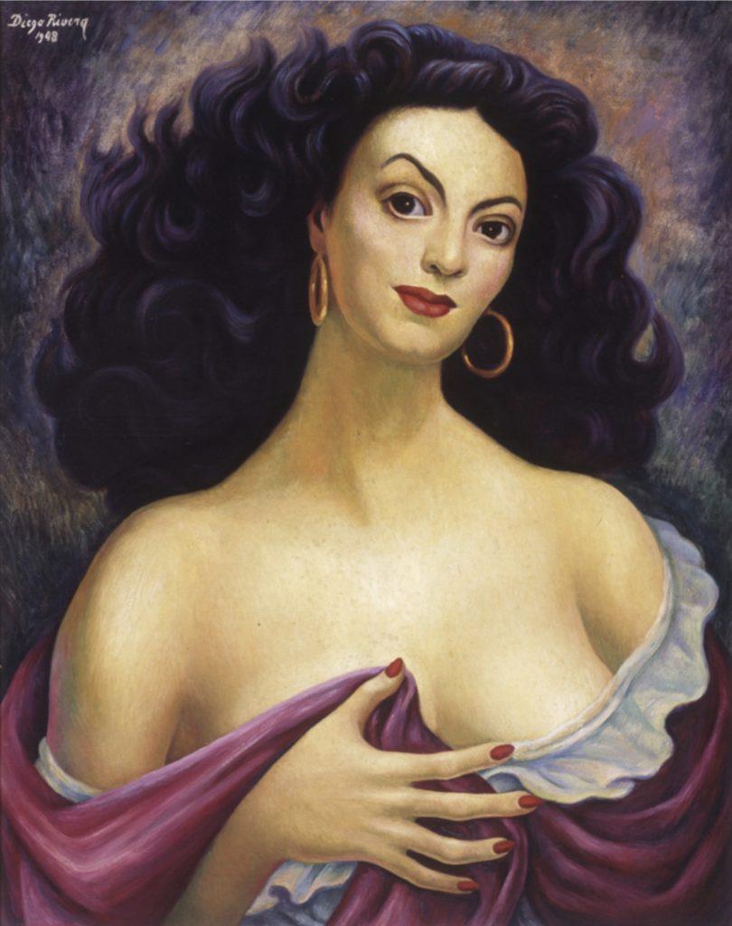 Portrait de María Félix par Diego Rivera