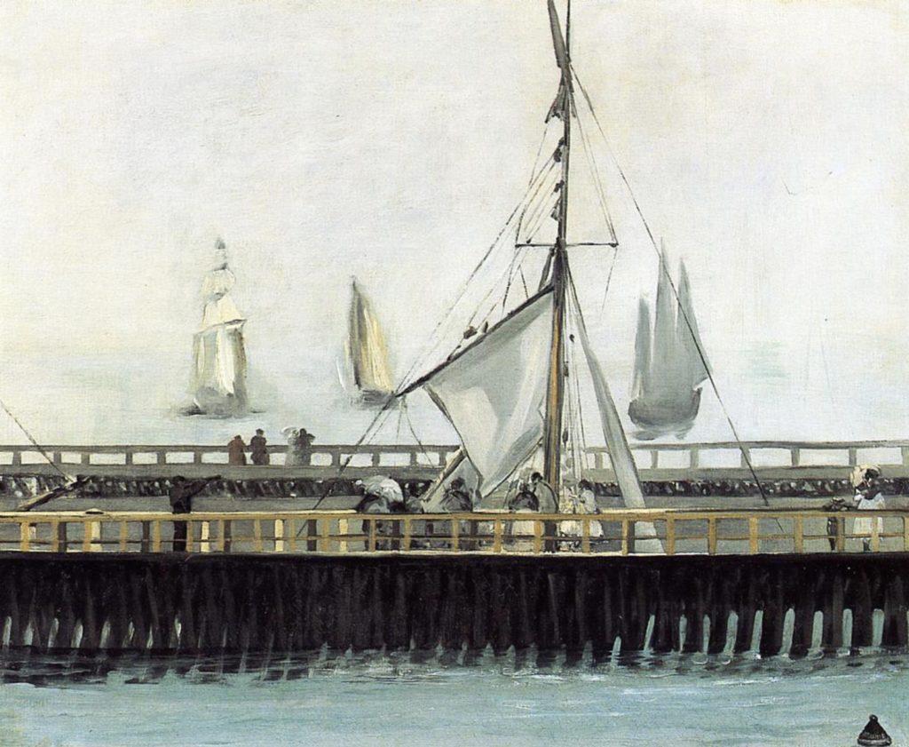 Jetée de Boulogne par Édouard Manet