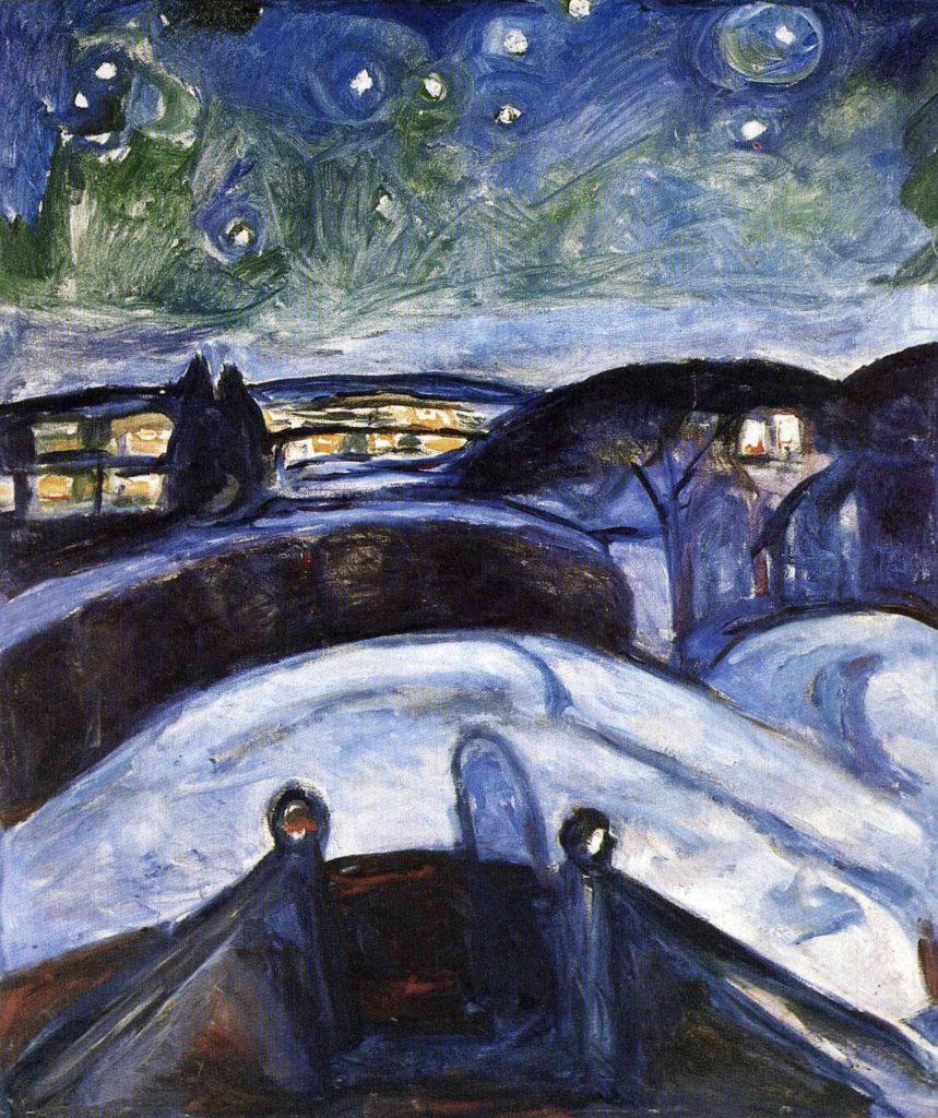 Nuit étoilée d'Edvard Munch