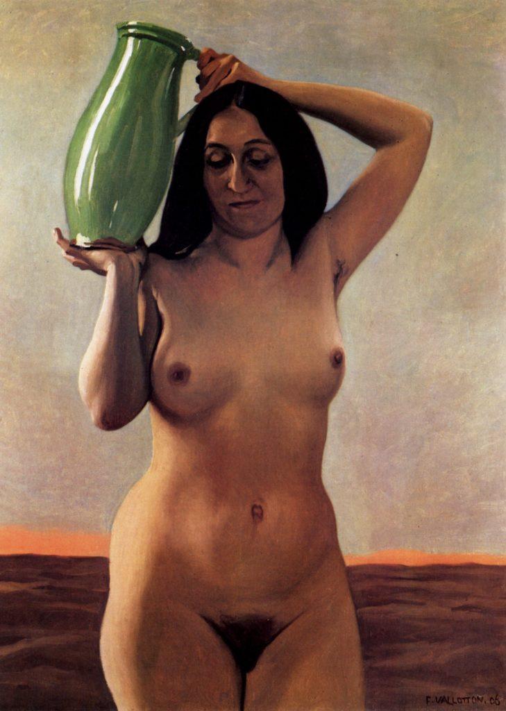 Femme à la cruche par Félix Vallotton