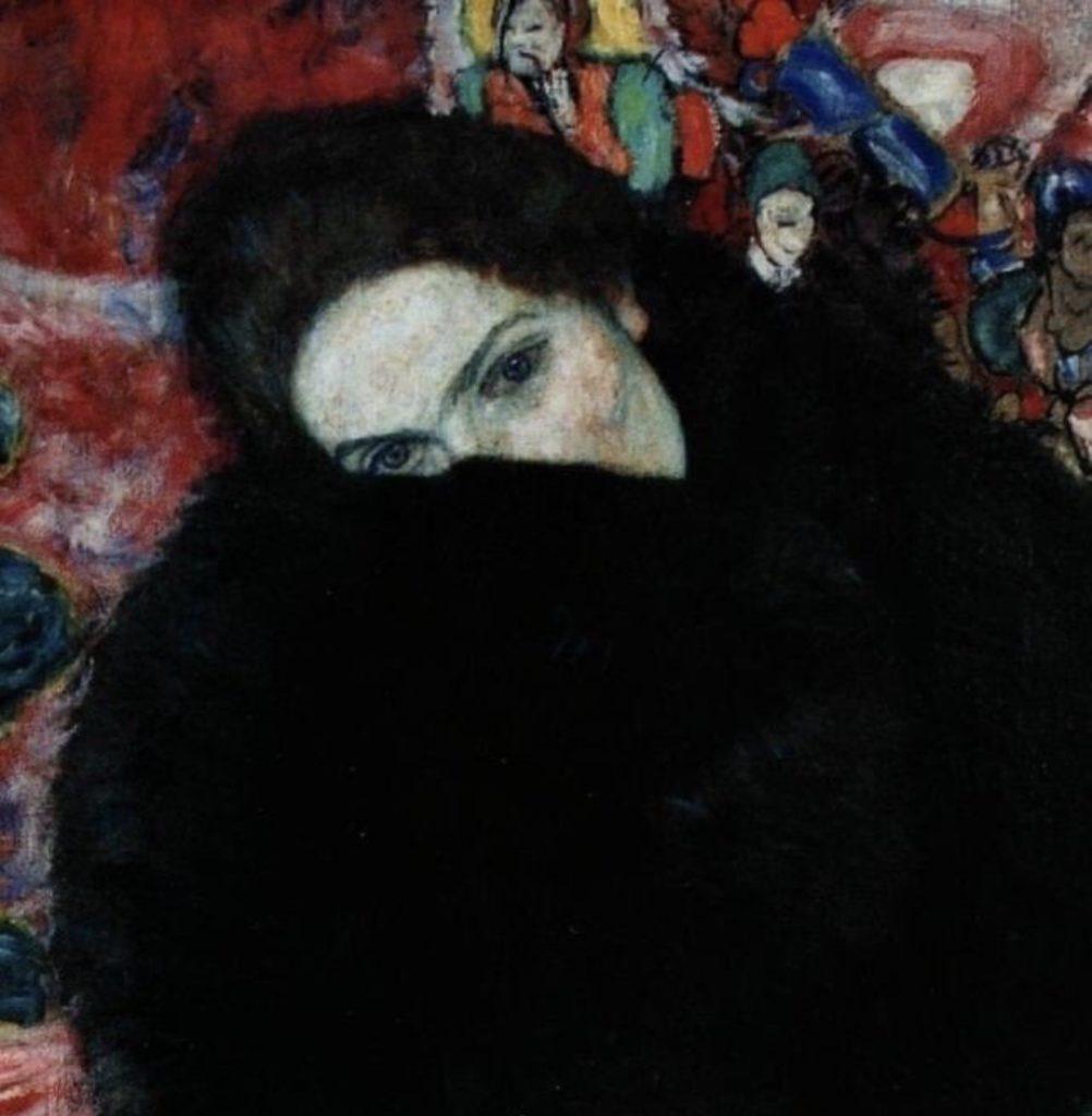 Dame avec un manchon de Gustav Klimt