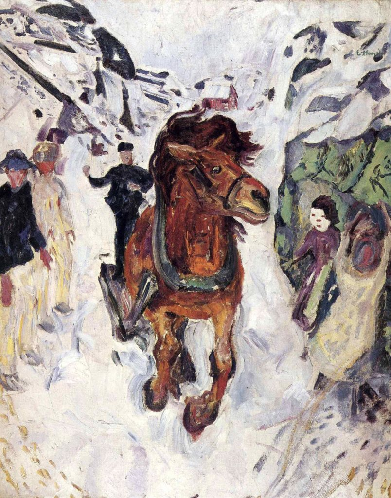 Cheval au galop d'Edvard Munch