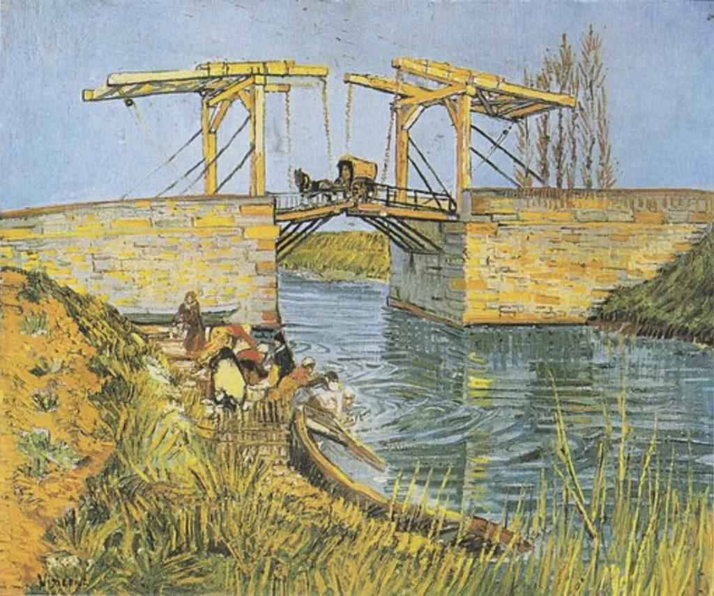 Le Pont de Langlois à Arles avec les lavandières de Vincent Van Gogh