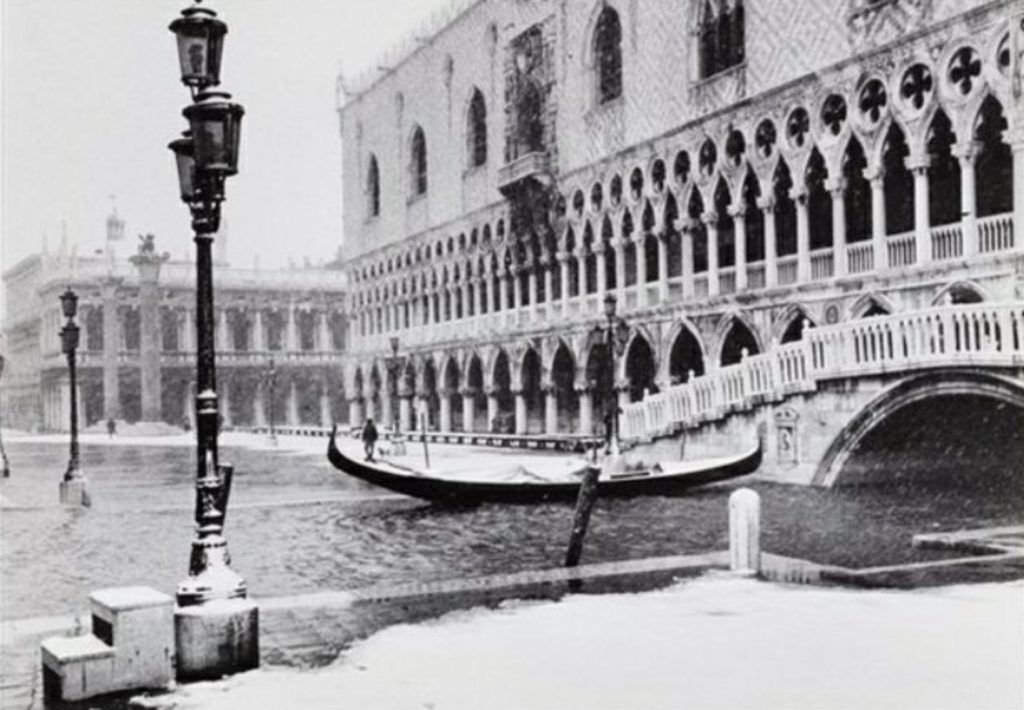Venise sous la neige par Gianni Berengo Gardin