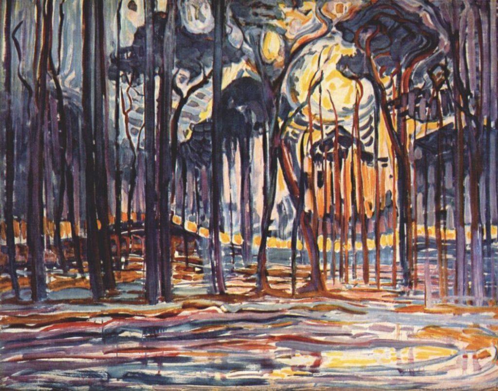 Bois près d'Oele par Piet Mondrian