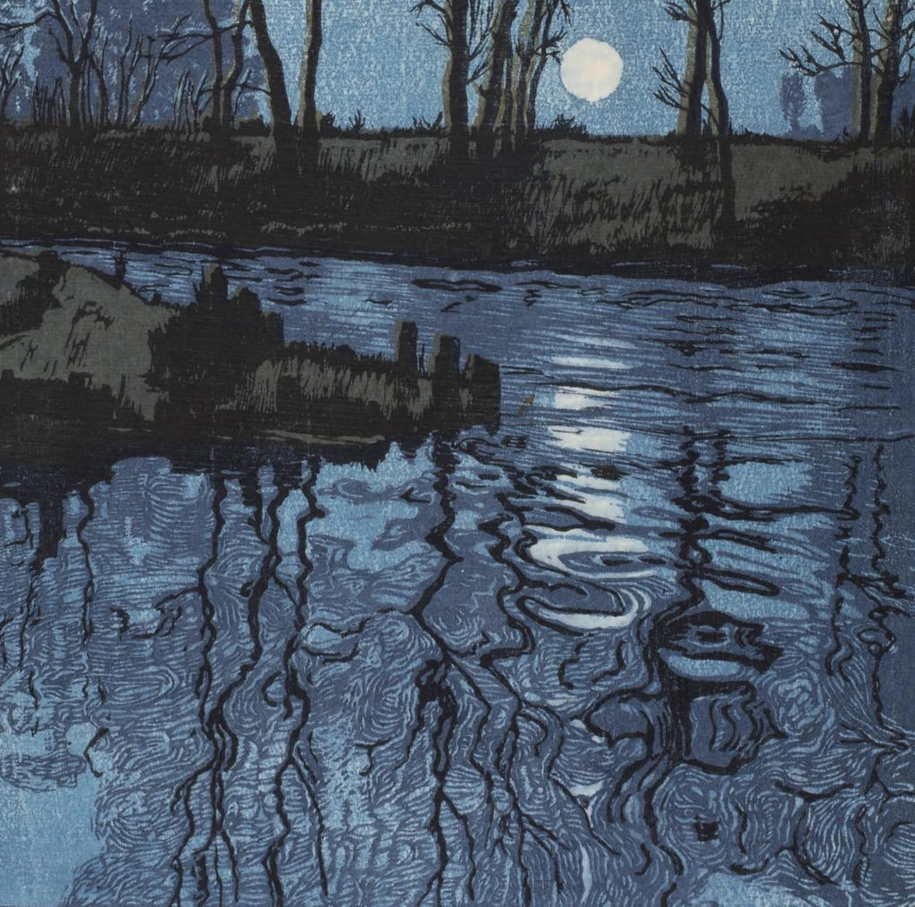 L'étang bleu d'Hugo Henneberg