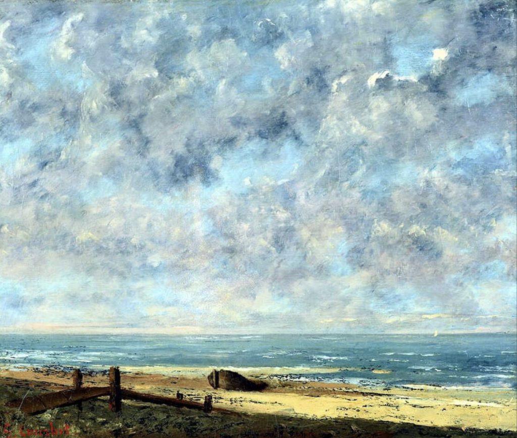 Paysage de mer par Gustave Courbet