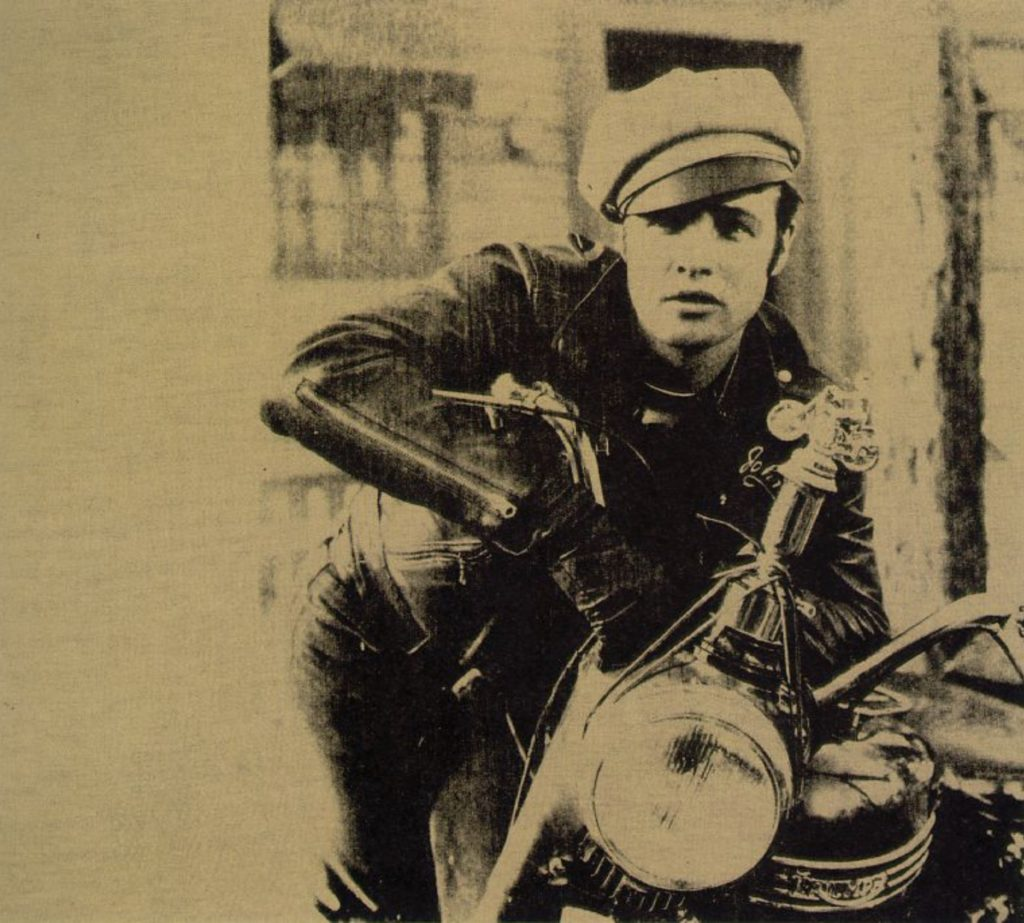 Marlon Brando en 1966, photo d'Andy Warhol