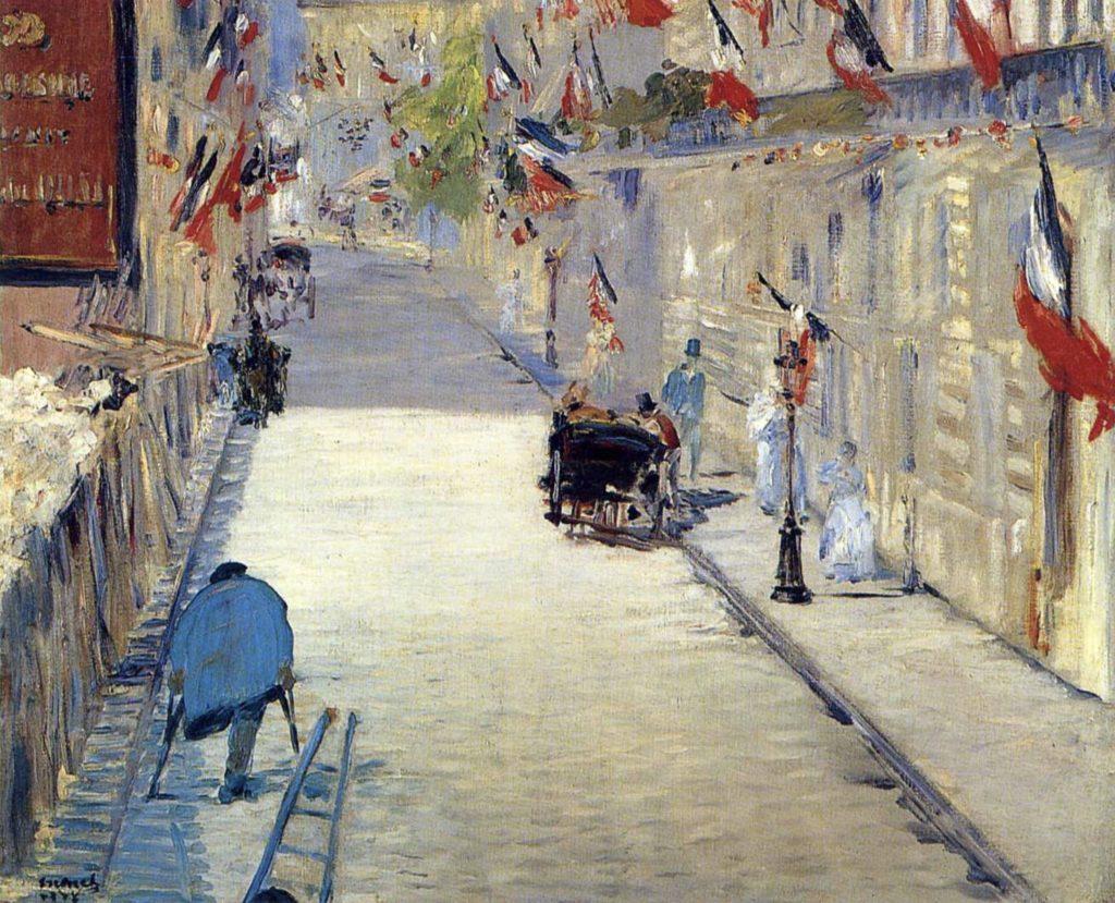 La rue Mosnier décorée de drapeaux d'Edouard Manet