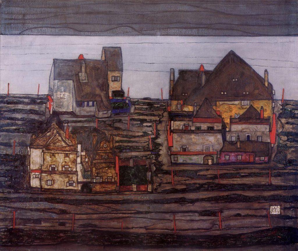 Vorstadt par Egon Schiele