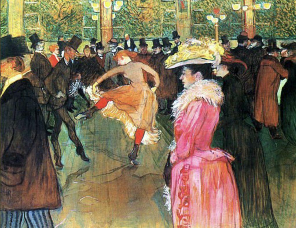 La danse au Moulin Rouge d'Henri de Toulouse-Lautrec