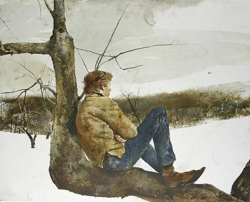 Afternoon flight by Andrew Wyeth