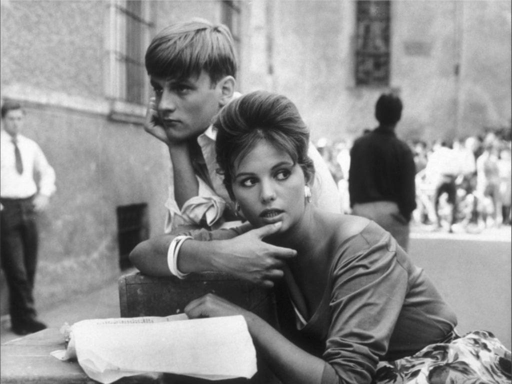 Claudia Cardinale et Jacques Perrin dans La fille à la valise de Valerio Zurlini