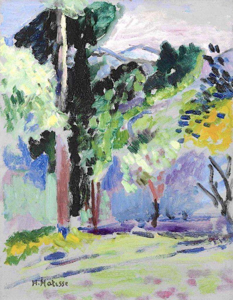 Paysage à Collioure d'Henri Matisse