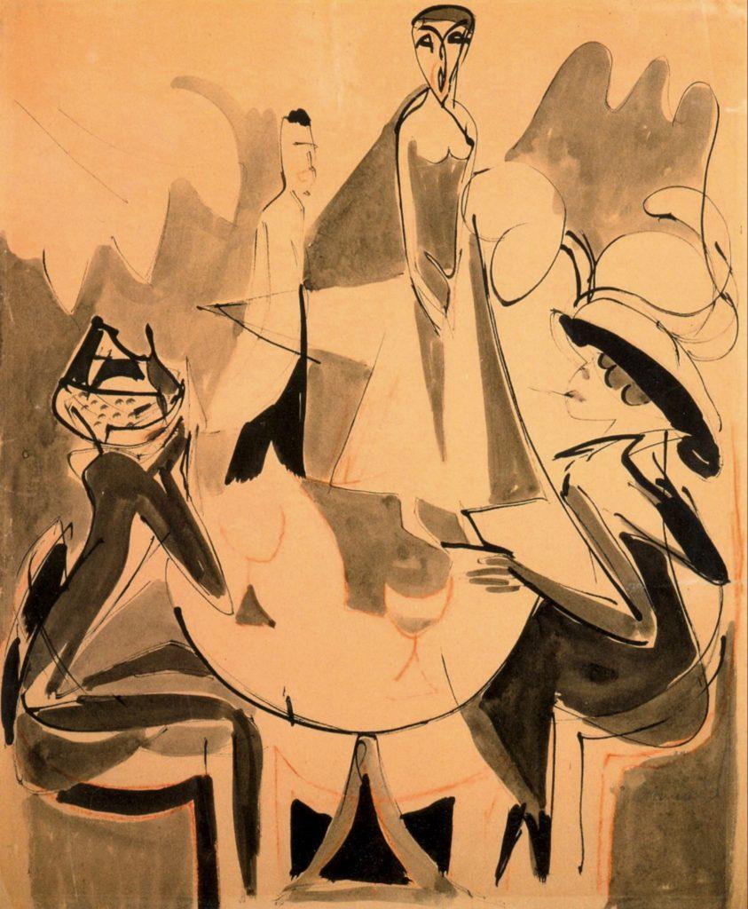 Café chantant II d'Ernst Ludwig Kirchner