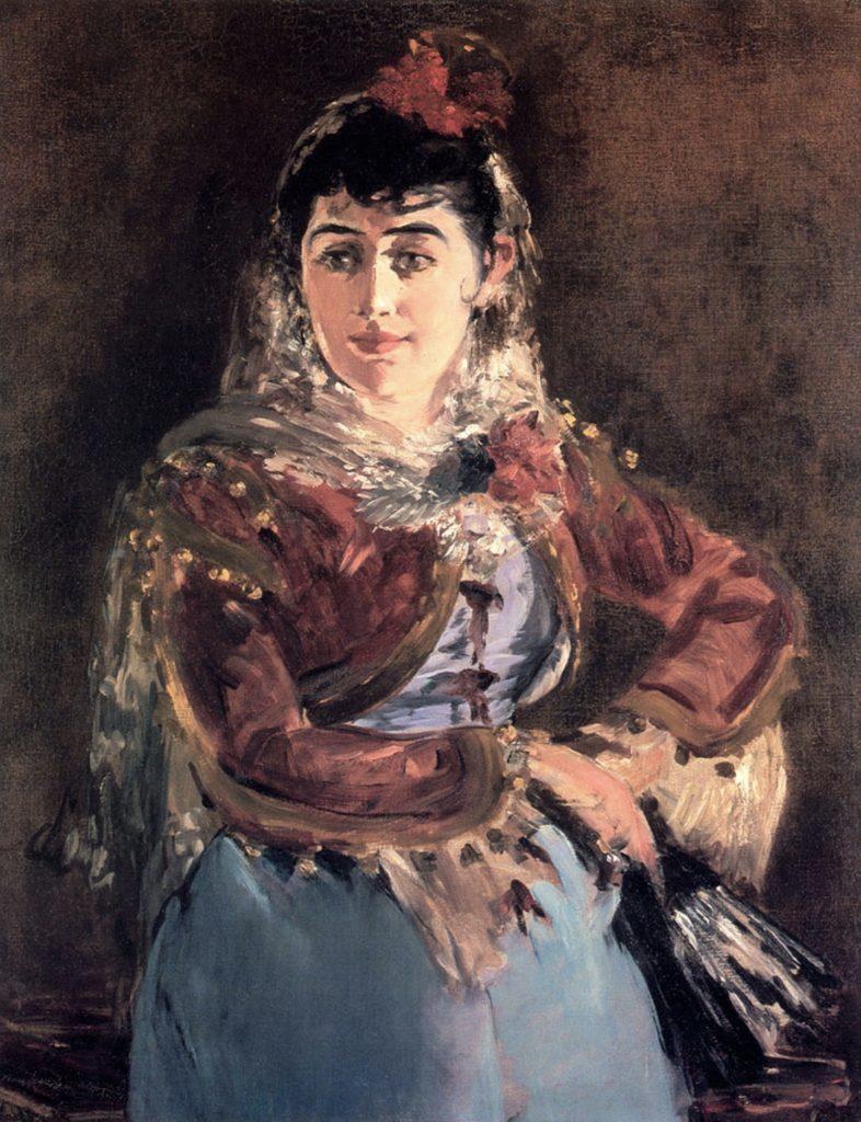 Portrait d'Emilie Ambre dans le rôle de Carmen d'Edouard Manet