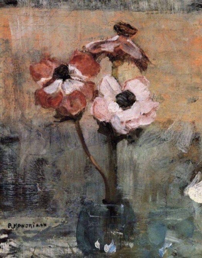 Anémones de Piet Mondrian