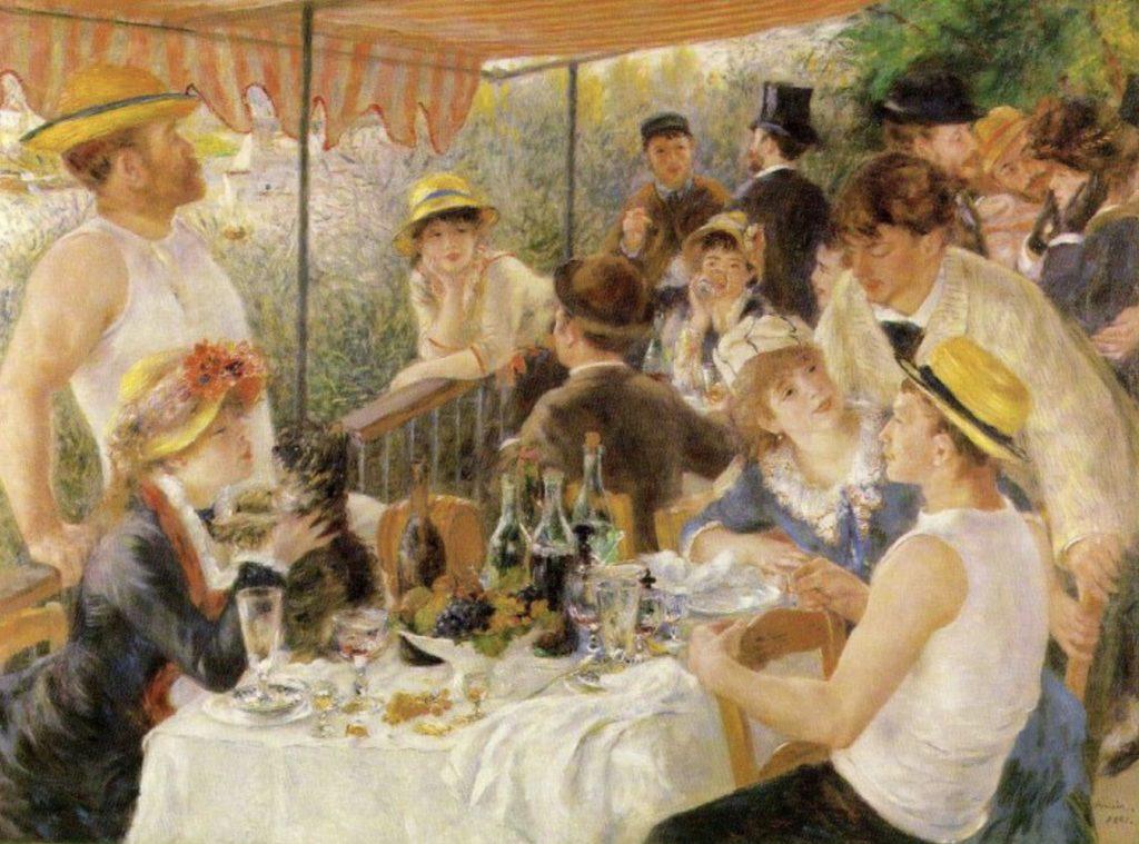 Le déjeuner des Canotiers (huile sur toile), par Auguste Renoir