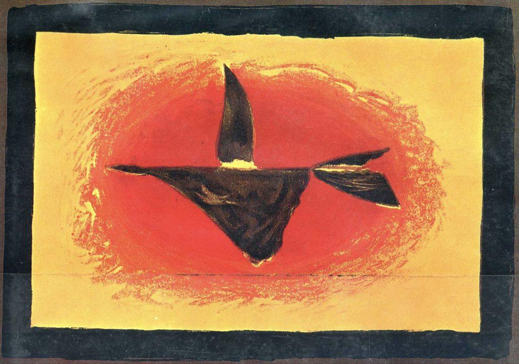 Au coucher du soleil, bird XVI de Georges Braque