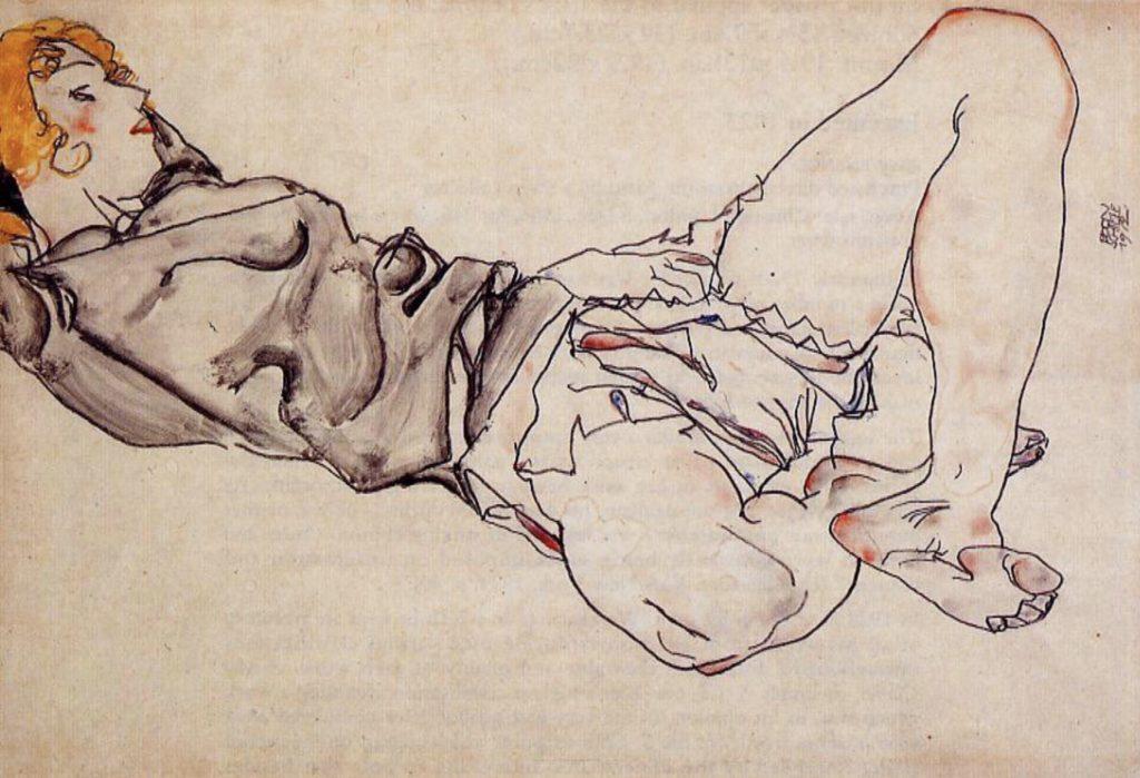 Femme allongée d'Egon Schiele