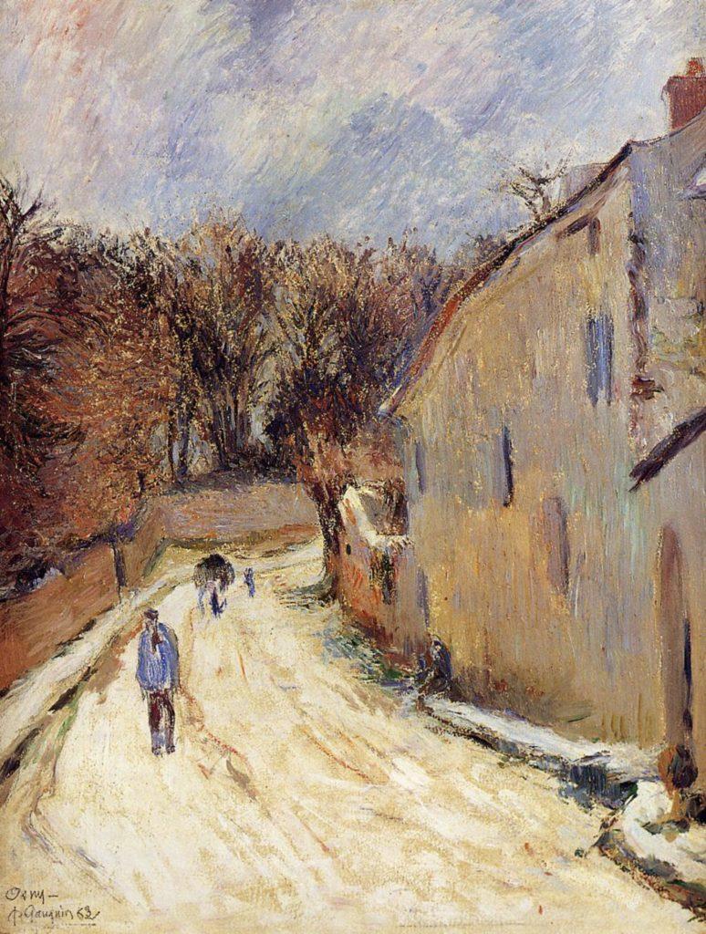 Osny, rue de Pontoise par Paul Gauguin