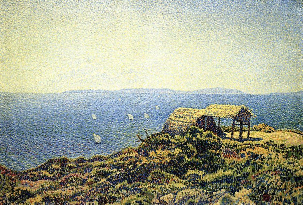 Île du Levant par Théo Van Rysselberghe