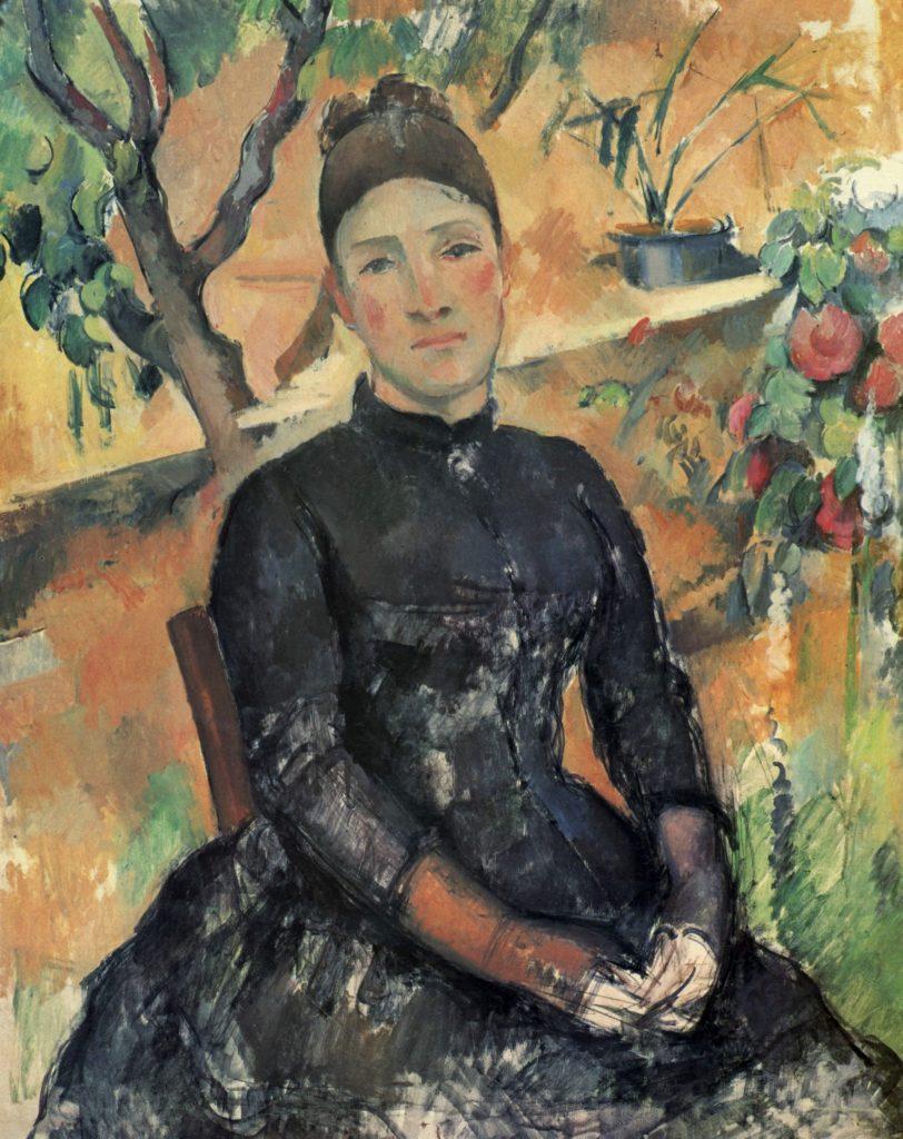 Madame Cézanne dans la serre par Paul Cézanne