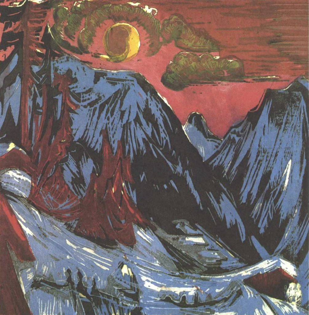 Montagnes en hiver d'Ernst Ludwig Kirchner