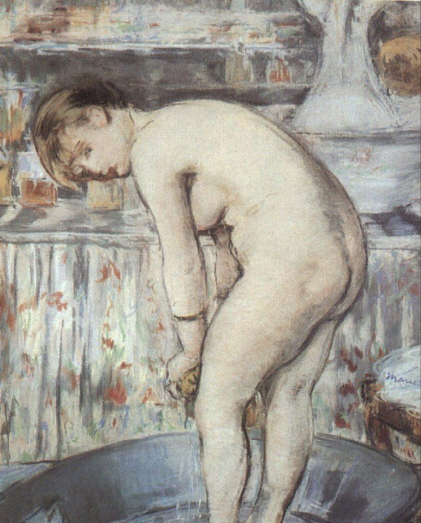 Femme dans sa baignoire d'Edouard Manet