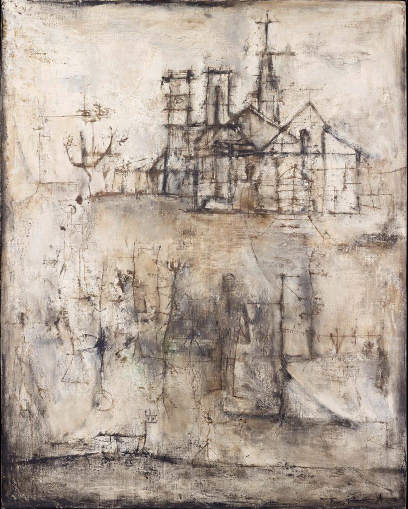 La cathédrale par Zao Wou-Ki