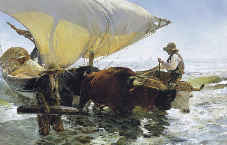 Retour de pêche par Joaquín Sorolla y Bastida