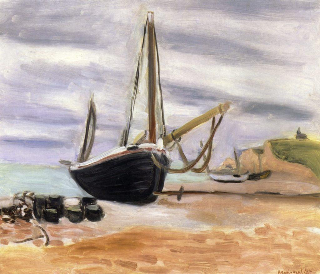 Bateaux à Etretat par Henri Matisse