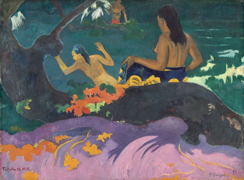 Fatata Te Miti (by The Sea) de Paul Gauguin