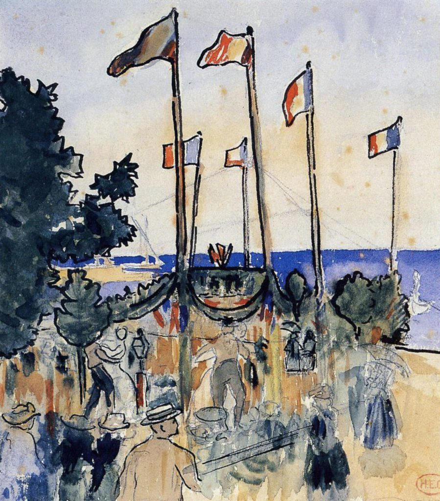 Le 4 juillet au bord de la mer par Henri-Edmond Cross