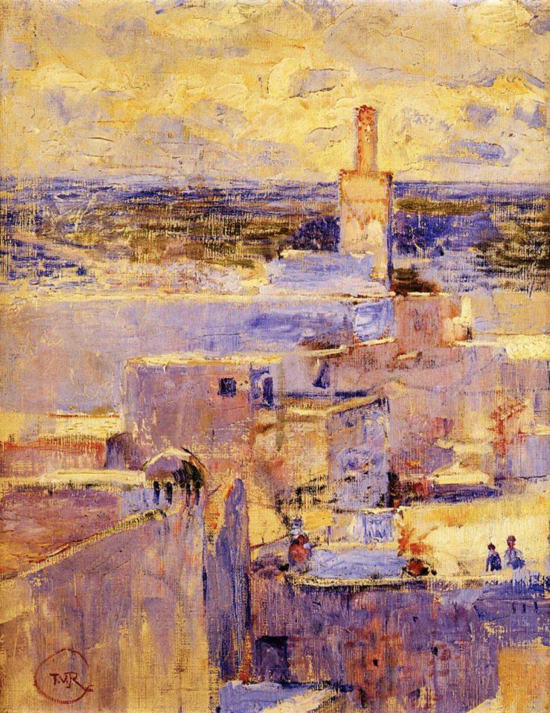 Vue de Meknès, Maroc par Théo van Rysselberghe