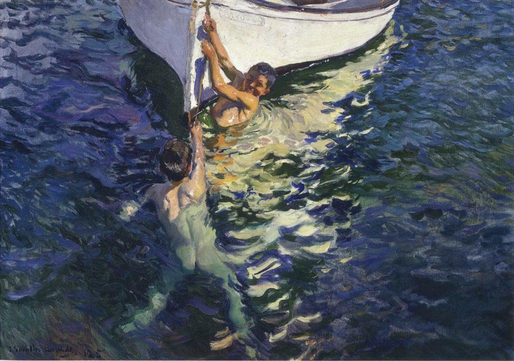 Le bateau blanc, Javea par Joaquin Sorolla y Bastida