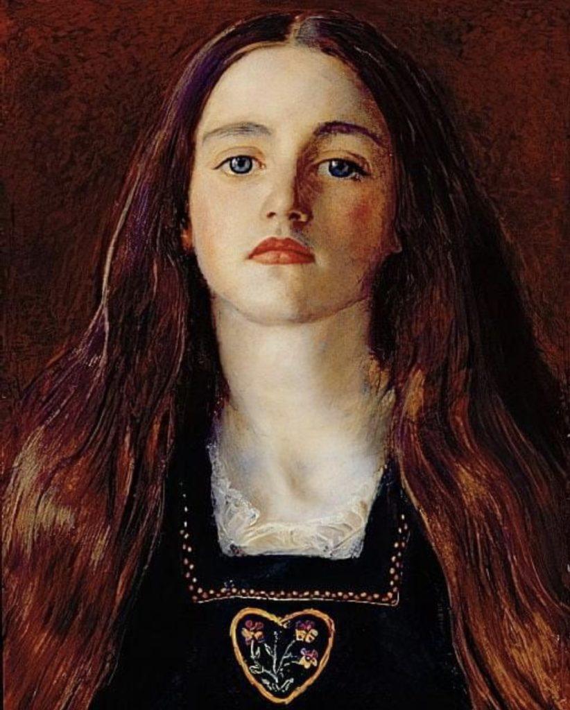 Portrait de jeune fille fille de John Everett Millais