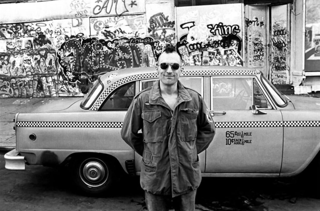 Robert de Niro dans Taxi Driver, photo de Steve Shapiro