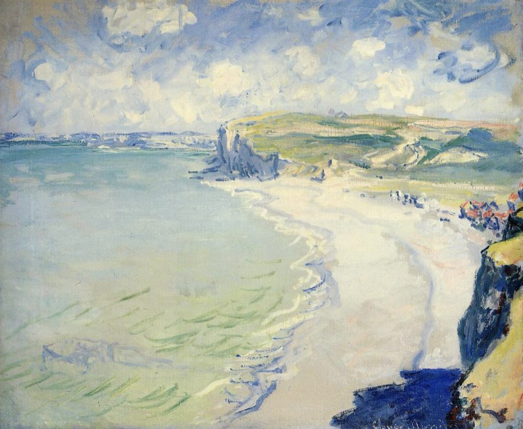 La plage de Pourville par Claude Monet