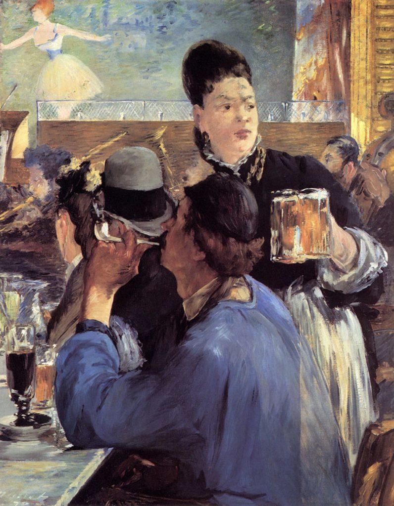 Café-concert par Édouard Manet