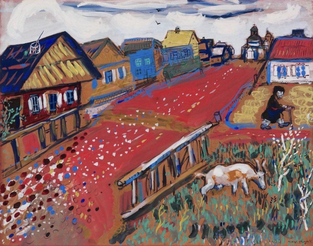 Village russe par Marc Chagall