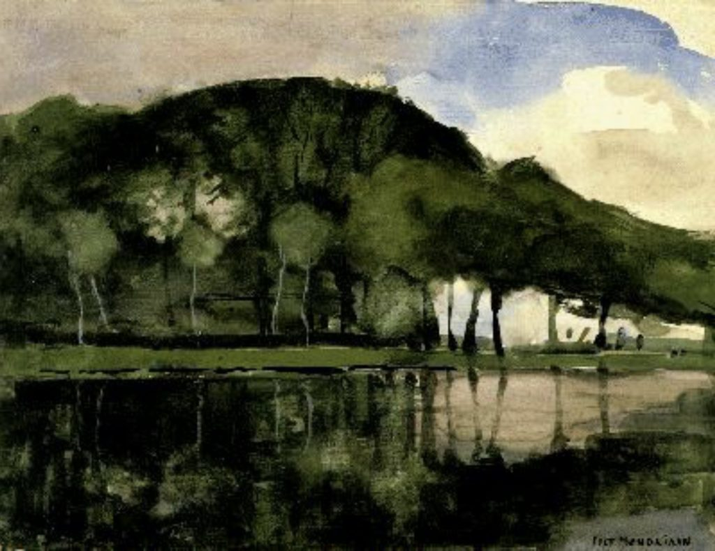 Le long de l'Amstel de Piet Mondrian