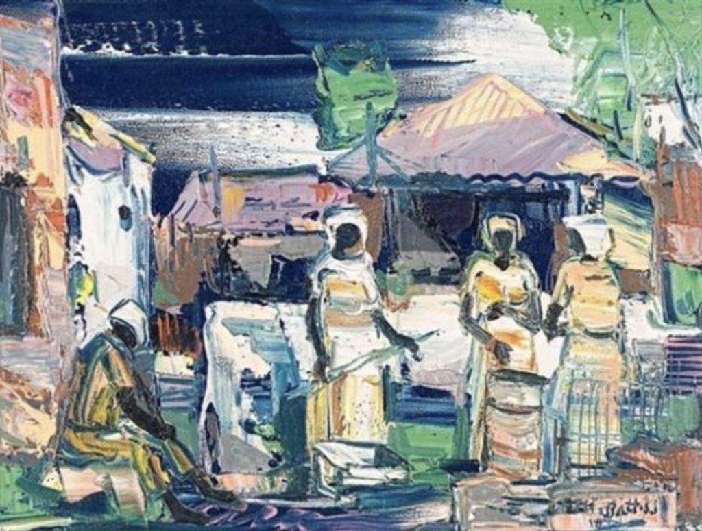 Village Life par Walter Battiss