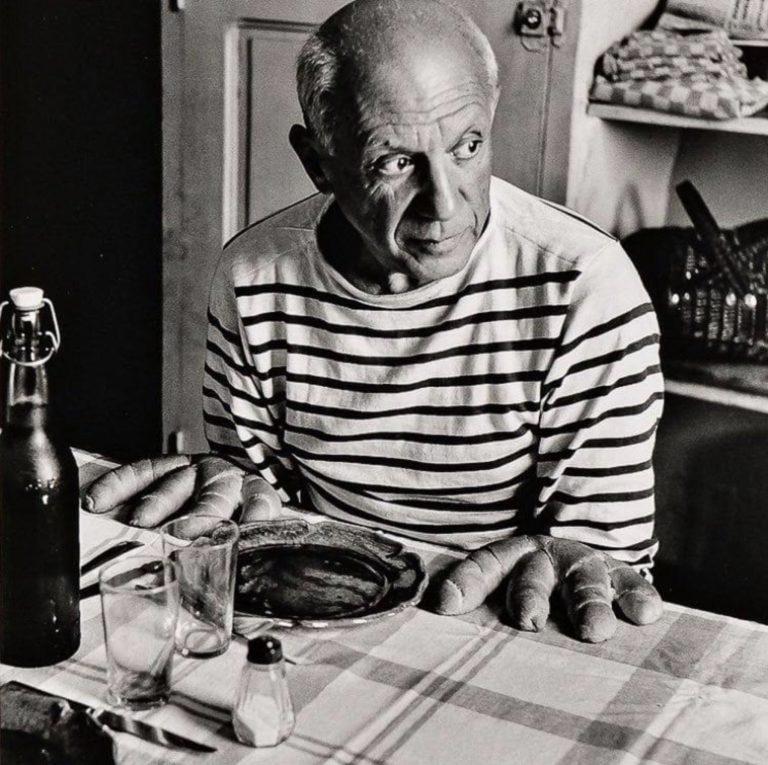 Les pains de Picasso par Robert Doisneau