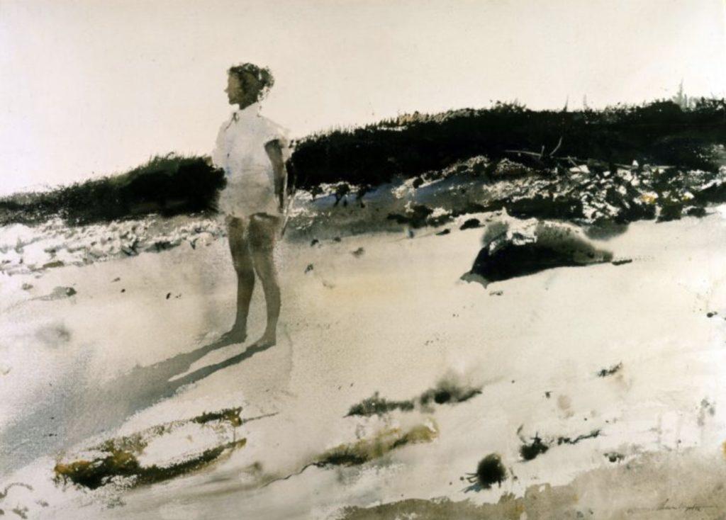 Carol sur la plage d'Andrew Wyeth