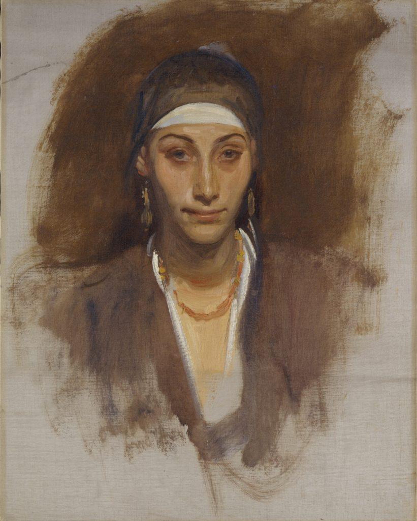 Femme égyptienne avec des boucles d'oreille de John Singer Sargent