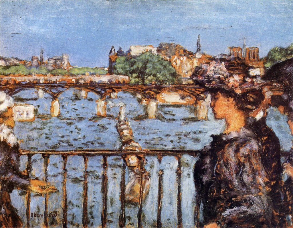 Le pont des Arts par Pierre Bonnard