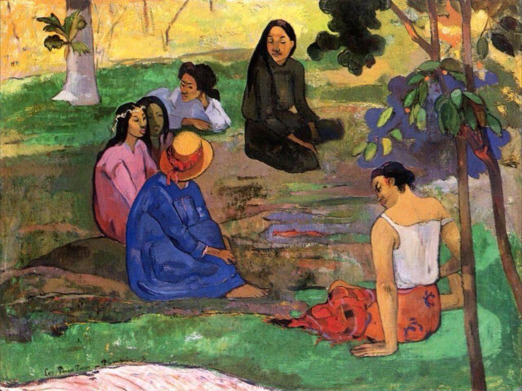 Les Parau Parau (Conversation) par Paul Gauguin