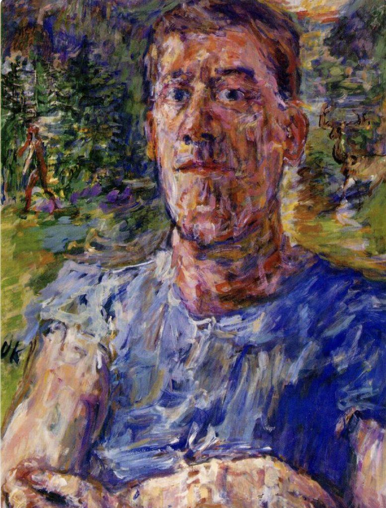 Autoportrait d'un artiste dégénéré d'Oskar Kokoschka